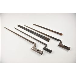 A collector's lot of three early socket  bayonets. One or two likely for brown Bess  and one for an