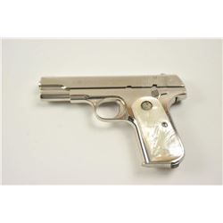 Colt Model 1903 Hammerless semi-automatic  pistol, .32 caliber, Serial #481935.  The  pistol is in f