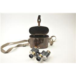Swiss Kern Armee Modell Pre-War binoculars  with period Micarta case and strap.  The  binoculars are
