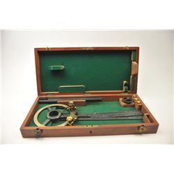 "Vintage British Navigational Plotter circa  1870 marked, ""LENNIE, EDINBURGH.  The plotter  is in fin"