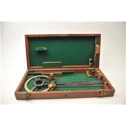 "Vintage British Navigational Plotter circa  1870 marked, ""LENNIE, EDINBURGH.  The plotter  is in fin"