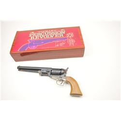 Lyman Replica of Colt 1851 Squareback Navy  Revolver with blue and case color finish and  wood grips