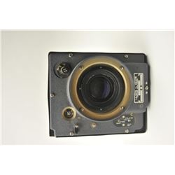 Vintage Cold War era Hycon aerial camera lens  cone.  This lens cone is similar to those  used by hi