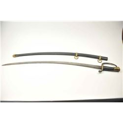 "1840 Artillery Officer's sabre by Ames dated  1847 and marked ""Ames Caabotville"". Good  overall with"