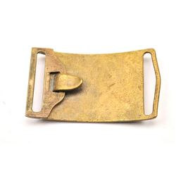 Indian Wars era U.S. Army Pattern 1874 brass  belt buckle in a Riker��s case.  The U.S.  marked buckl