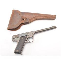 "Hi-Standard Model ""B"" semi-automatic pistol,  .22 L.R. caliber, Serial #14138.  The pistol  is in ve"