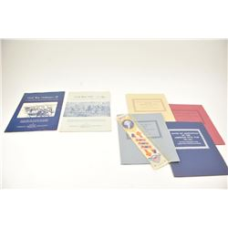 Military print lot with six pamphlets on  Civil War Ordnance, framed works showing  French Imperial