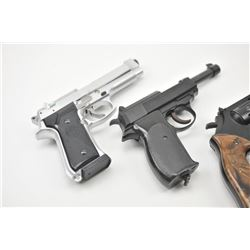 Bonanza lot of 11 air pistols and cap guns by  Crosman, Daisy and others, all in good to  very good