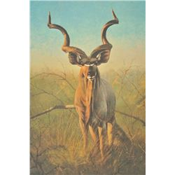 "1981 International Wildlife Foundation hand  signed and numbered original lithograph  entitled, ""Gre"