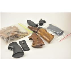 Large grip lot including six pair of  partially finished wooden grips for a Single  Six revolver, S&