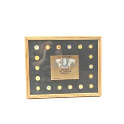 Alexander Graham Bell 'The History of the  Telephone 1876-1987' commemorative pin set.  Est>$100-200