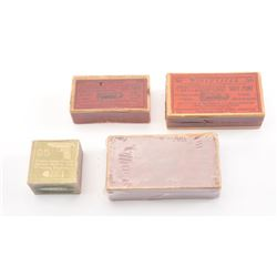 Cartridge collector's lot of 4 boxes. 1. Colt .380 Auto pistol marked red label box  by Winchester.