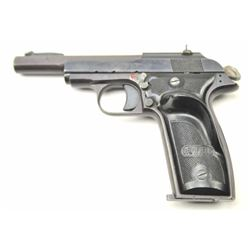 "M.A.B. (France) Semi-Auto pistol with exposed  hammer and 4 ½"" round to octagon barrel,  Winfield Ar"