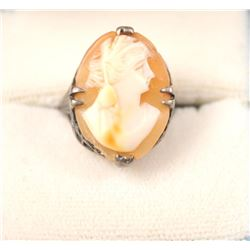 One antique ring set with beautifully carved  cameo Est:$100-200