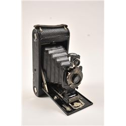 One awesome vintage Kodak no 1-A bellow  camera almost like new, with a leather  monogrammed carry b