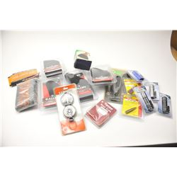 Bonanza lot of Hunter and Shooter supplies  including butt pads, IWB and belt holsters,  butt pads,