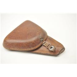 Japanese military holster for a Nambu leather  clamshell style holster in very good plus to  almost