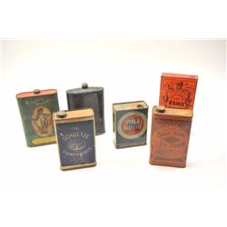 Lot of 19th and early 20th century powder  cans.  The lot includes cans by Mathewson's,  E.C. Shotgu