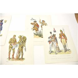Lot of 32 military prints by artist Fritz  Kredel.  The lot includes fine prints  spanning the Revol