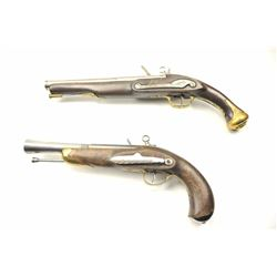 Lot of two Spanish style flintlock pistols.   The pistols appear to be Spanish made in the  last 30-