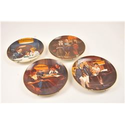 4 limited edition of vintage Norman Rockwell  plates, Fathers help,Evening ease, Birthday  wish, Clo