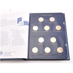 Complete set of U.S. Statehood Quarters  1999-2008 in a Whitman Classic coin album.   The set includ