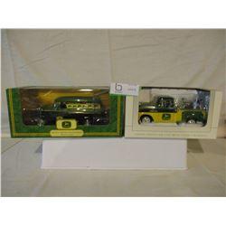 2 N.I.B Chevrolet 1950s John Deere Delivery Trucks