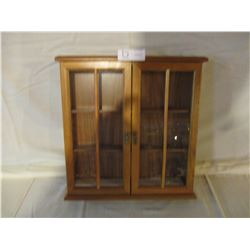 "Wooden Wall Cabinet 15"" W by 16"" T"