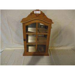 "Wooden Table Top Display Case 15"" W by 25"" T"