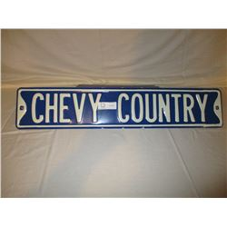 "Chevy Country Sign 6"" by 30"""