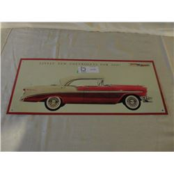 "Chevrolet 1956 Bel Air Tin Sign 8"" W by 18"" T"
