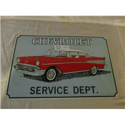 "2 Chevrolet 1950s Car Tin Signs 11"" by 17"""
