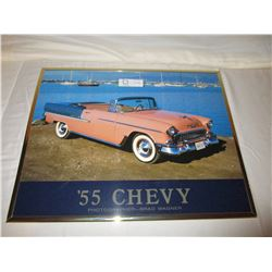 2 Chevrolet 1955 Car Pictures Framed