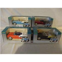 4 N.I.B Chevrolet 1955 Liberty Classic Car Banks