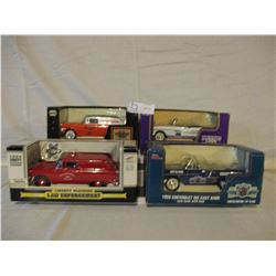 4 N.I.B Chevrolet 1955 Assorted Car Banks