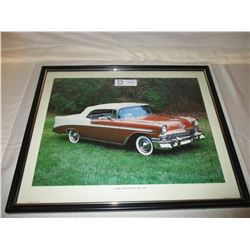 "2 Chevrolet 1956-57 Bel Air Pictures Frame 17"" by 12"""