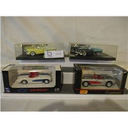 7 N.I.P Chevrolet Assorted Smaller Scale 1950s Cars