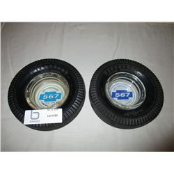 "2 Chevrolet 1984 and 1994 ""567"" Club Anniversary Tire Ash Trays"
