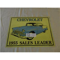 "2 Chevrolet Car Tin Bel Air Signs 12"" by 14"""