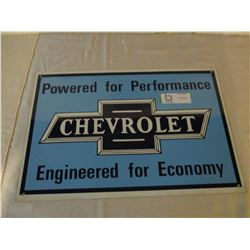 "Chevrolet Tin Sign Logo 12"" by 17"""