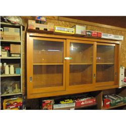 "Wooden Showcase 3 Sliding Doors 16.5"" by 16.5"" by 60"""
