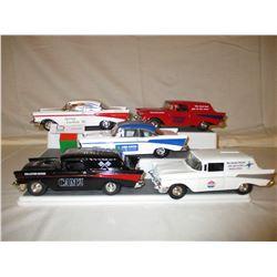 5 Chevrolet 1957 Car Banks and Models