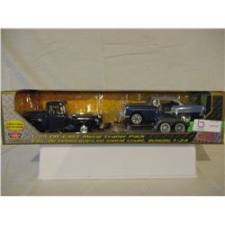 N.I.B Chevrolet 1950s Car, Truck and Trailer 1/24 Scale