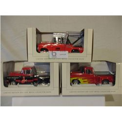 3 N.I.B Chevrolet 1957 Truck Models
