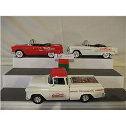 3 Chevrolet 1950s Coca-Cola Cars and Truck Models