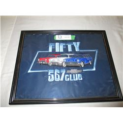 "Chevrolet ""567"" Club Framed Embroidered Patch 12"" by 15"""