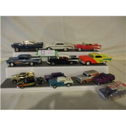 13 Chevrolet Assorted Miniature 1950s Car Models and Hot Wheels