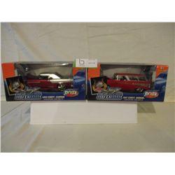 2 N.I.B Chevrolet 1955 & 1957 Bel Air Custom Hot Rods