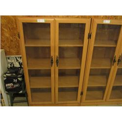 """Floor Display Case with Hinged Glass Doors 12"""" by 29"""" by 48"""" T"""