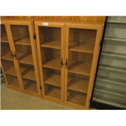 "Floor Display Case with Hinged Glass Doors 12"" by 29"" by 48"" T"